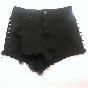 BDG Urban Outfitters High Rise Cheeky Spike shorts
